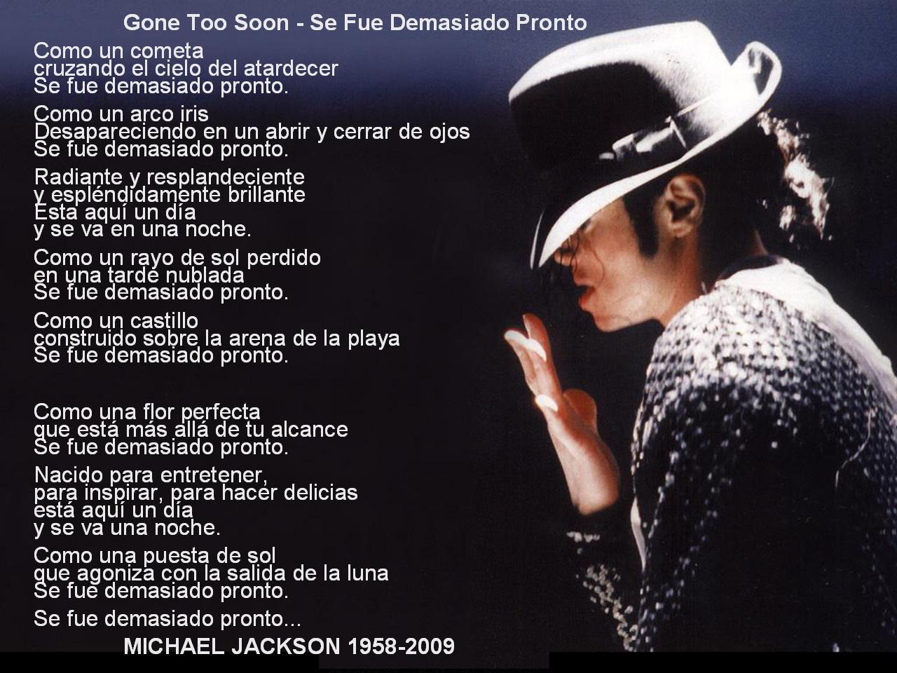 Se Fue Demasiado Pronto Michael Jackson Anaán Y Amigos