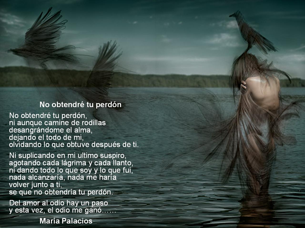 poemas tristes cortos de perdon